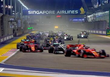 F1, GP Singapore 2019: la partenza della gara [Video]