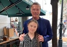 Arnold Schwarzenegger offre una Tesla Model 3 a Greta Thunberg