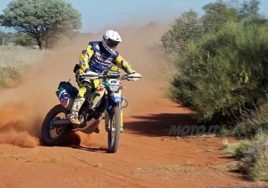 Manuel Lucchese in gara all'Australasian Safari Rally