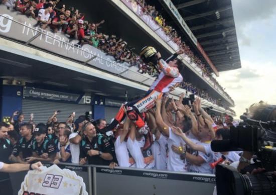 MotoGP 2019. Marc Marquez campione del mondo 2019