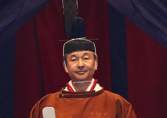 Giappone, la cerimonia di incoronazione dell'imperatore Naruhito