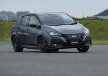 Nissan Leaf e+, il prototipo con doppio motore e All-Wheel Control