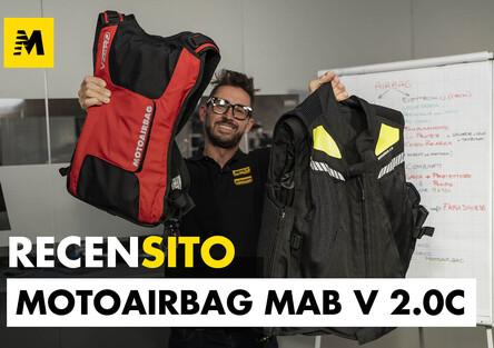 Motoairbag MAB v2.0c. Un super airbag meccanico! Ecco l'esplosione