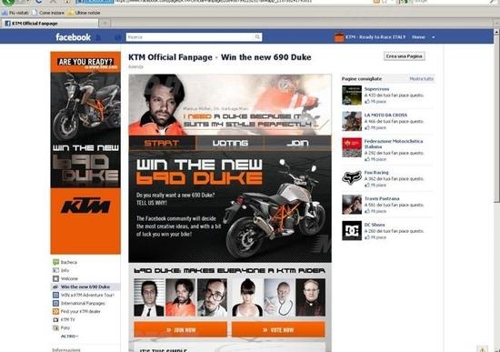 Vinci una 690 Duke. Partecipa al concorso KTM
