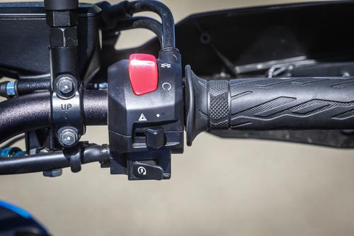 Il blocchetto destro della Suzuki GSX-S1000F
