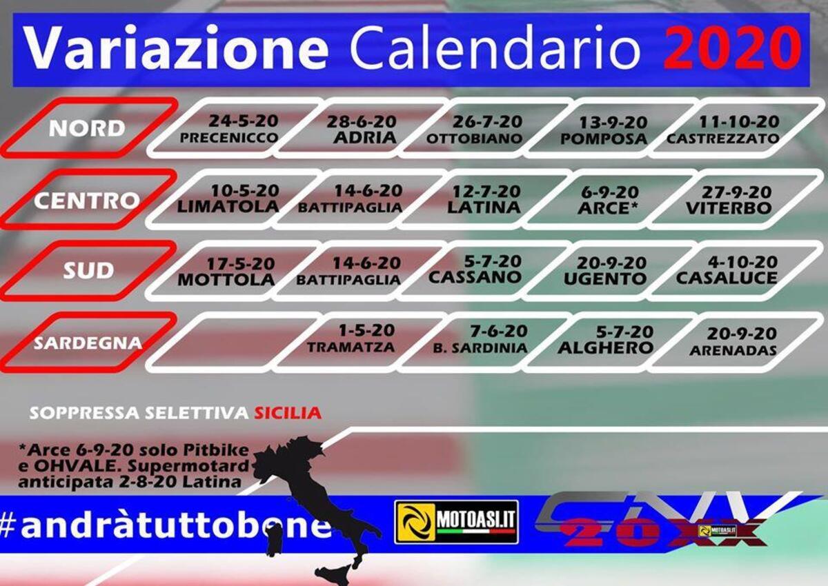 Cnv Motoasi 2020 Calendari Aggiornati A Causa Del Covid 19 Sport Moto It