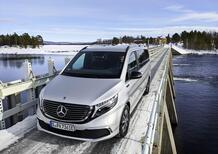 Mercedes EQV: ultimi test glaciali prima del lancio sul mercato