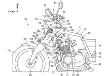 Honda brevetta due sospensioni anteriori in stile Gold Wing