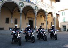 La Polizia Municipale di Pistoia in pattuglia sulle moto elettriche
