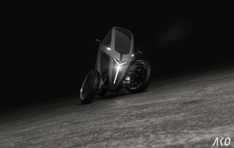 AKO, il Trike elettrico che piega come una moto