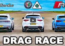 Drag Race: Stelvio QV vs RSQ3 vs Macan Turbo [VIDEO]