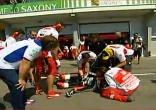 Pasini: incidente in pitlane al Sachsenring!