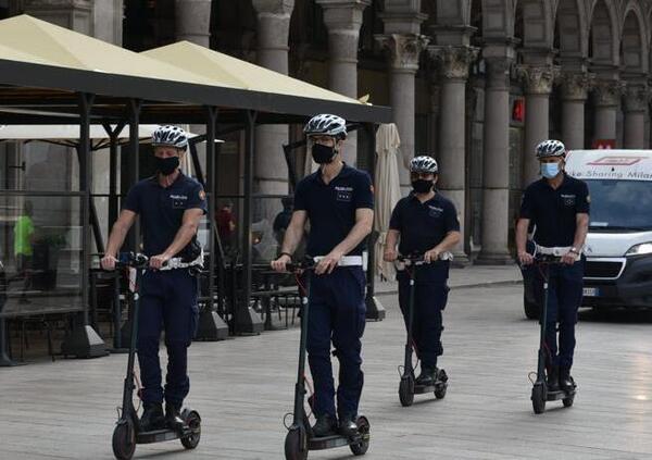 Milano. Polizia Locale, al via le pattuglie in monopattino elettrico
