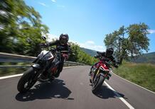 Ducati Streetfighter V4S vs KTM SuperDuke 1290R. Scontro tra titani