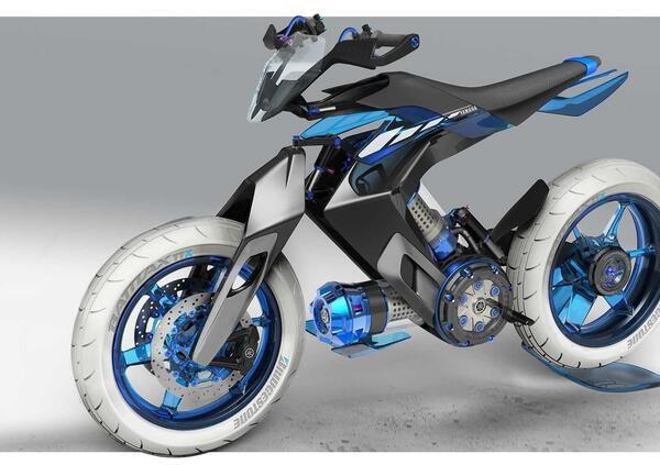 Yamaha XT 500 2025. Concept con motore ad acqua