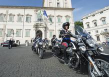 Presentate al Capo dello Stato le Moto Guzzi California dei Corazzieri