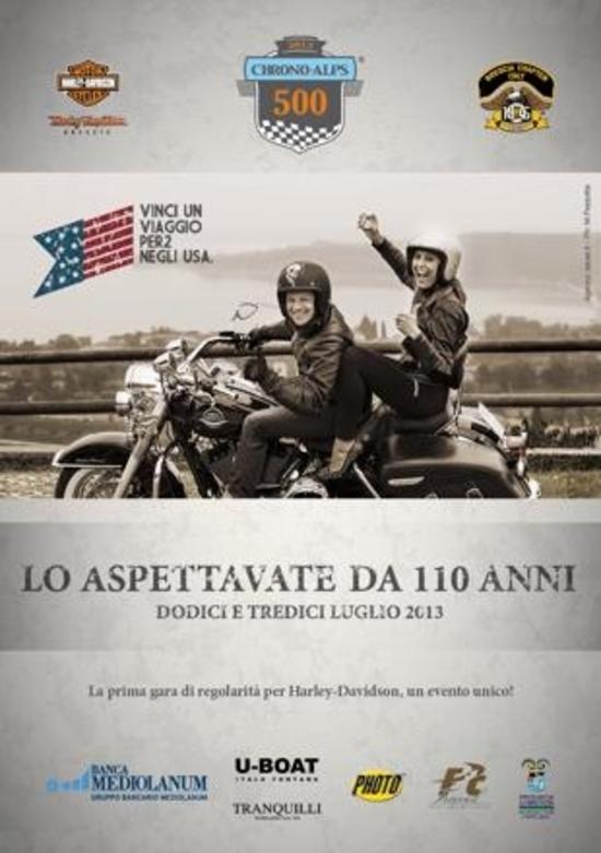 Harley-Davidson Chrono Alps 500: gara di regolarità riservata al mito USA