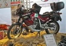 In mostra a Verona l'Honda Transalp donata ai medici della Tunisia