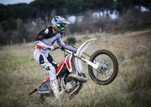 Pietro Salina nel 2021 nel Team Maddii Racing insieme a Fantic Motor