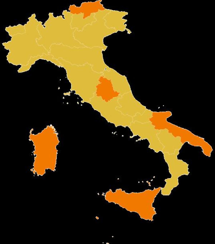 Ecco la nuova Italia bicolore per febbraio: elenco zone Gialle e Arancio  (basta Rosse) - News - Automoto.it