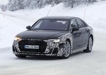 Audi A8 restyling, le foto spia