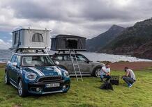 Arriva la MINI da campeggio: ecco Cooper SE e Countryman All4 Hybrid con tenda sul tetto