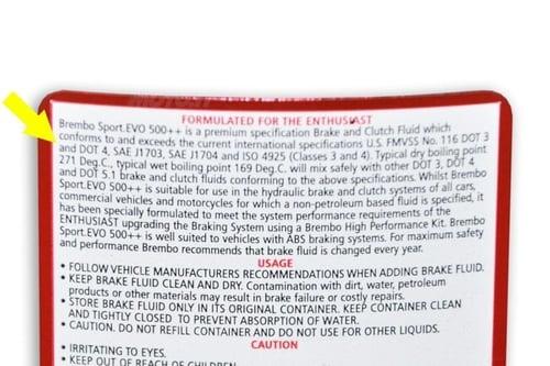 Il liquido dei freni deve essere di buona marca e del tipo adatto . Occhio a quanto riportato sull'etichetta!