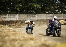 Yamaha Niken: crazy test contro il campione di Flat Track Marco Belli!