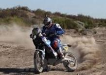 Dakar 2014, tappa 6. Vincono Duclos (Sherco) e Peterhansel (Mini All4 Racing)