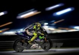 Valentino Rossi in sella alla Yamaha M1 2014