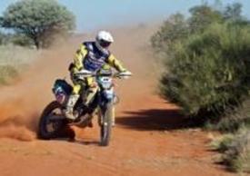 Manuel Lucchese in sella alla sua Husaberg in Australia,