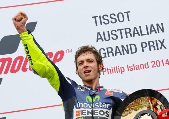 Rossi vince il GP d'Australia
