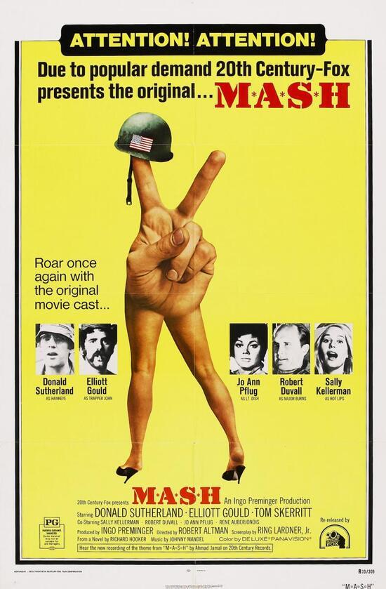 La locandina del cult movie MASH del 1970
