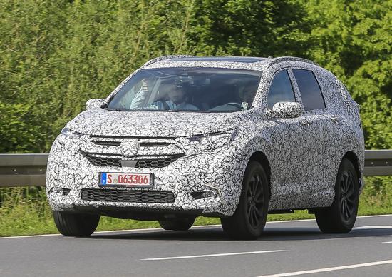 Nuova Honda CR-V: ecco le foto spia del muletto