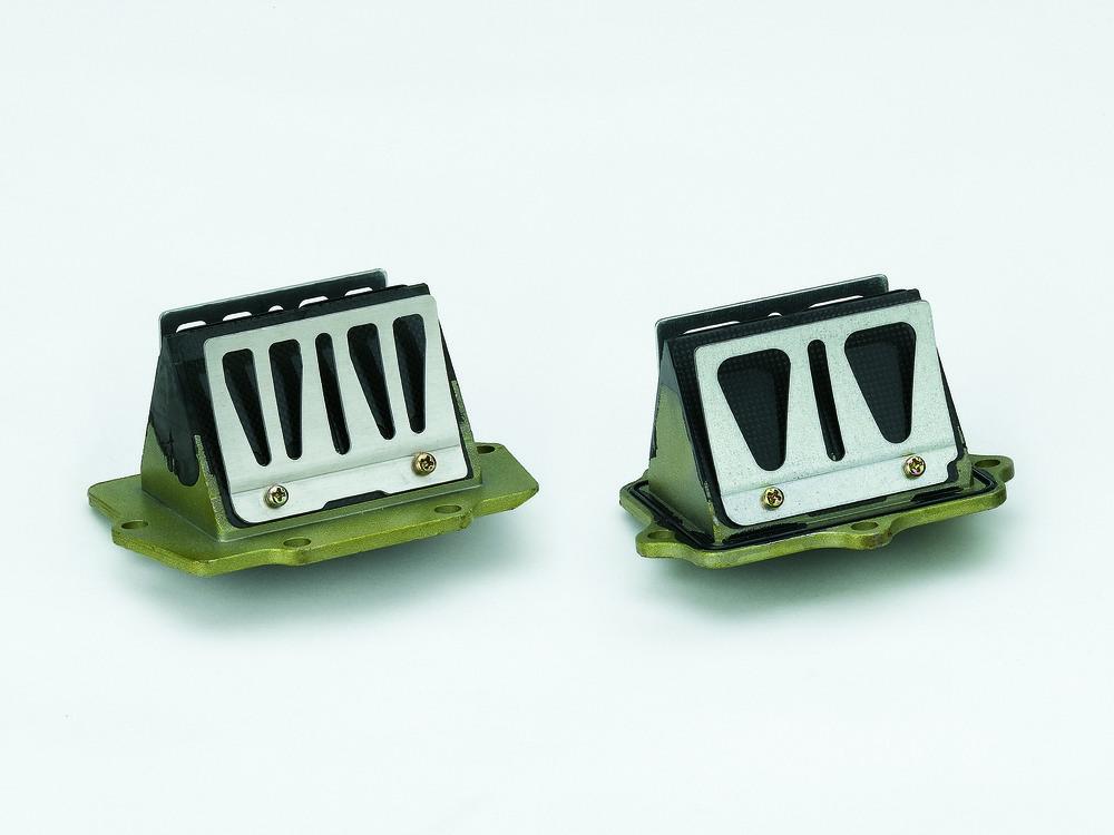 Nei motori a due tempi di serie l'ammissione della miscela aria-carburante nella camera di manovella (solo aria se l'alimentazione è a iniezione diretta) è controllata da valvole a lamelle