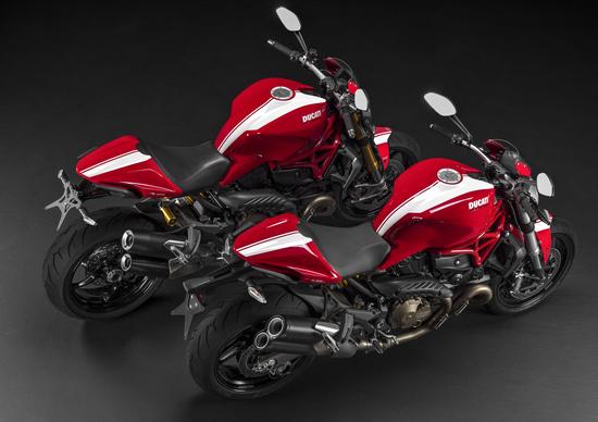 Ducati Monster 821 e 1200 S in versione Stripe
