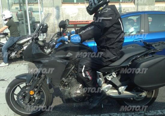 Yamaha MT-07 Crossover 2016: Spy photo