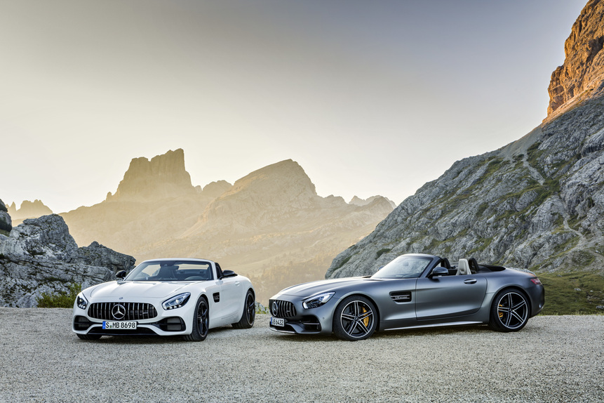 Mercedes-AMG GT e GT C Roadster: al Salone di Parigi 2016 en-plain-air