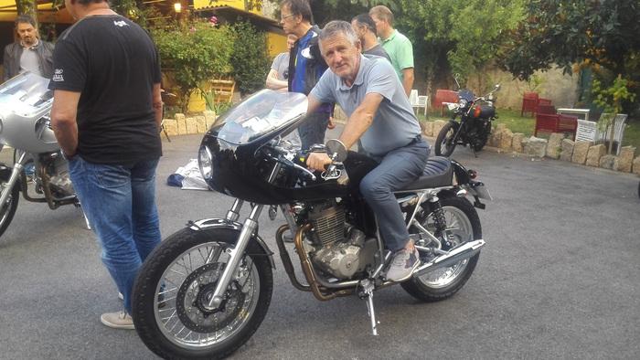 L'ingegnere Mariano Roman sulla TT40