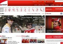 Kubica: sul sito ufficiale gli auguri della Ferrari