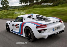 Porsche 918 Spyder: confermata la livrea Martini Racing