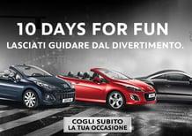 Peugeot 10 days for fun: sconti per 207 CC, 308 CC ed RCZ