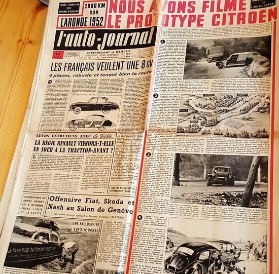 Il numero di aprile 1952 de l'auto-journal