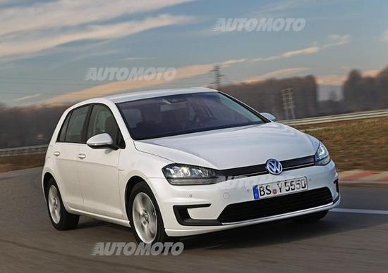 Volkswagen e-Golf: le prime immagini della variante elettrica
