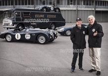 Jaguar alla Mille Miglia 2014 con Jay Leno e Bruno Senna