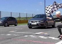 Meglio più potenza o meno peso? Seat Leon Cupra vs Ibiza Cupra, la video sfida in pista