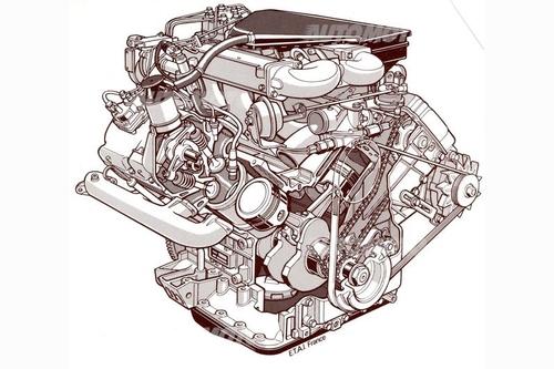 Nel V6 realizzato per la Renault, la Peugeot e la Volvo negli anni Settanta l'angolo tra le due bancate era di 90° e la distribuzione monoalbero, con comando a catena