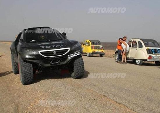 OiLibya Rally. La Peugeot 2008 DKR prova in Marocco