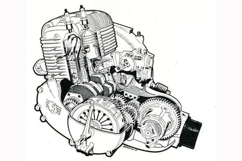 Il gruppo motore-cambio della Goggomobil era di scuola motociclistica. Dotato di raffreddamento ad aria e di trasmissione primaria a ingranaggi, è stato prodotto in versioni di 250, 300 e 400 cm3