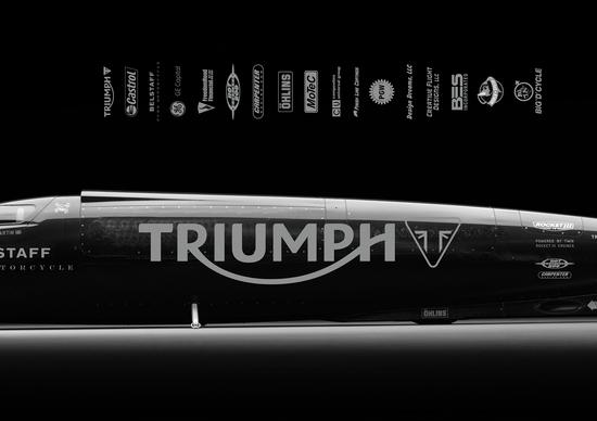 Guy Martin con Triumph a Bonneville alla caccia del record mondiale